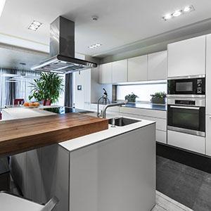 Modern luxury white style kitchen interior design